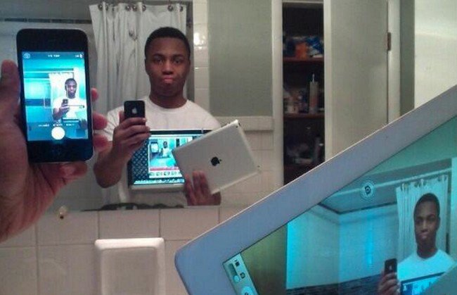 selfie of selfie of selfie