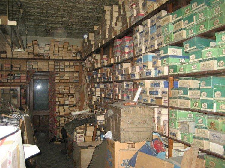 shoe store shoe boxes