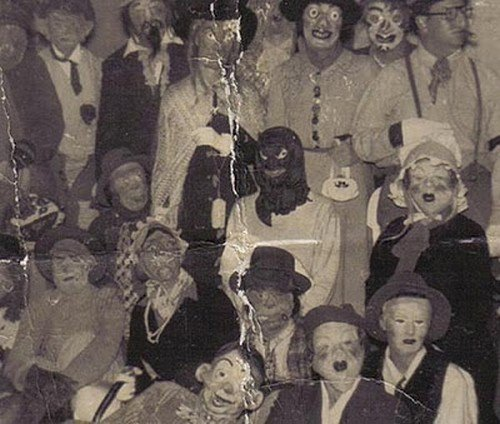terrifying masked people
