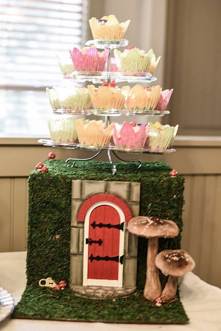 toadstool house cake stand