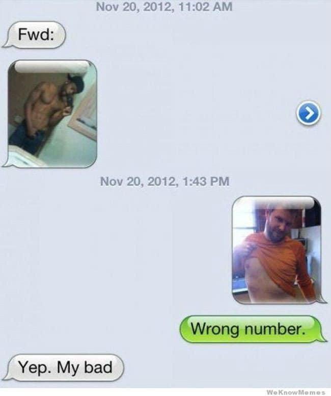 topless selfie text