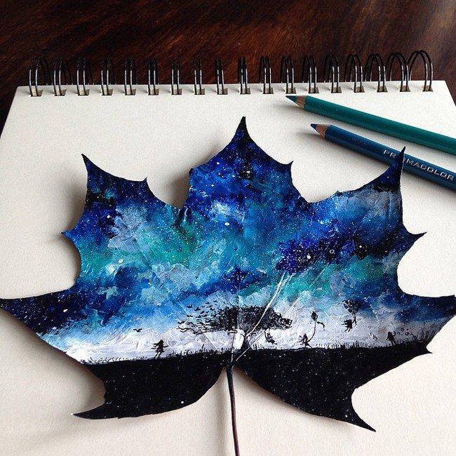 tree night leaf