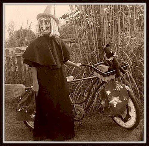 witch with bike