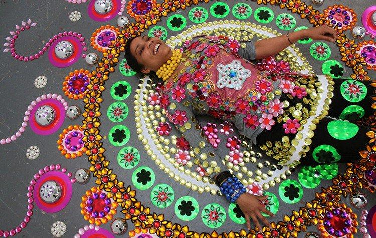 woman mandala art