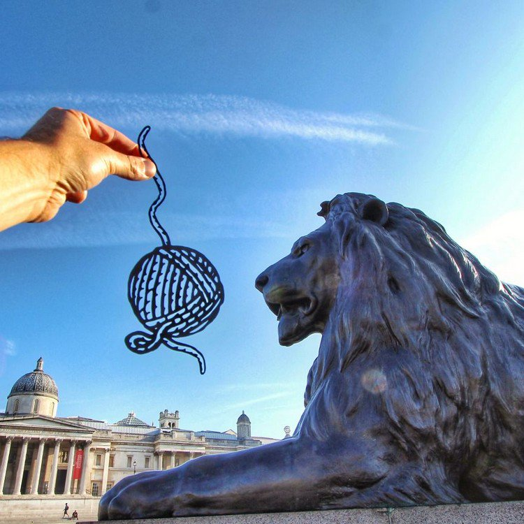 yarn ball cut out lion