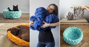 Anna Mo Knitted Chunky Pet Bed