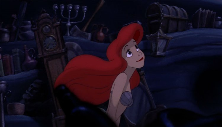 Ariel-in-Her-Cave-in-The-Little-Mermaid