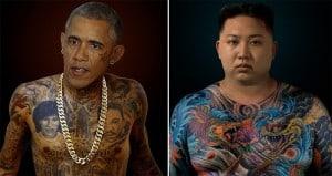 Arminas Raugevicius World Leaders Tattoo