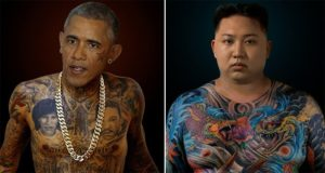 Arminas Raugevicius World Leaders Tattoo