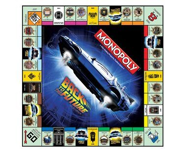 Back To The Future Monopoly board