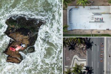 Brazilian Athletes Photographed Sky Drone