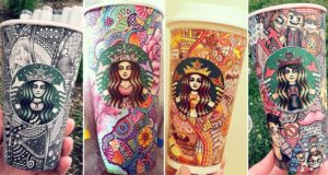 Carrah Aldridge Starbucks Cups Art