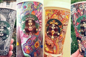 Carrah Aldridge Starbucks Cups Art