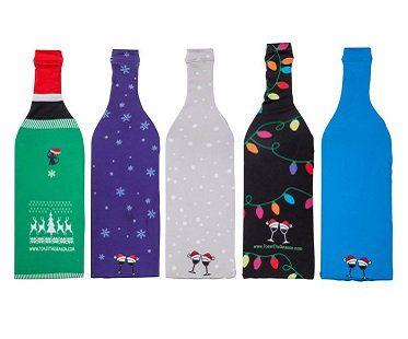 Christmas Wine Bottle Covers back