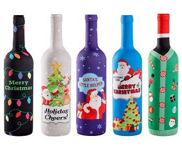 Christmas Wine Bottle Covers festive