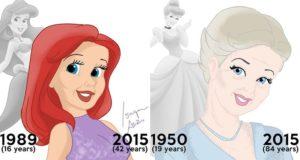 Disney Princesses Grown Up Old