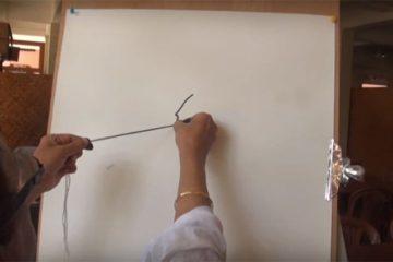 Dr. B.K.S. Varma Indian Ink And Thread Art