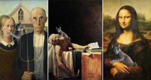 Eduard Cirstea Cat In Classic Artworks