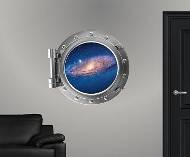 Galaxy Porthole Wall Sticker