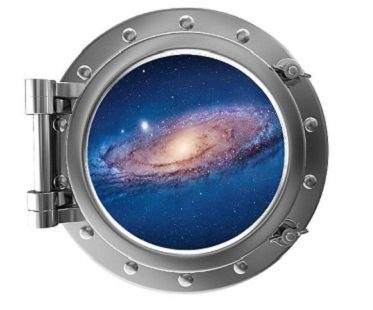 Galaxy Porthole Wall Sticker decal
