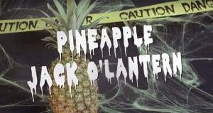 Halloween Pineapples Jack-O-Lantern