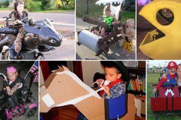 Handmade Wheelchair Halloween Costumes
