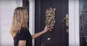 Human Head Talking Door Knocker