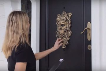 Human Head Talking Door Knocker