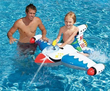 Inflatable Spaceship With Water Gun white