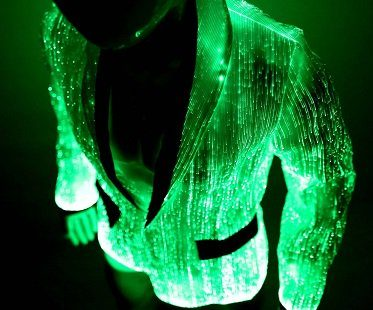 Light Up Fiber Optic Jacket green