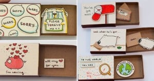 Messages Hidden Inside Matchboxes