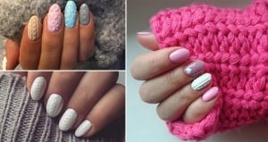 Nail Art Trend Knitted Texture