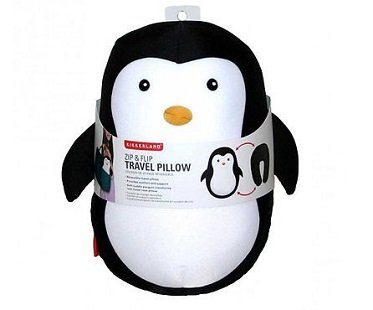 Penguin Zip And Flip Travel Pillow neck