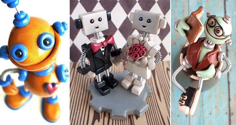 Robot Sculptures HerArtSheLoves