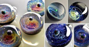 Satoshi Tomizu Space Glass Pendants