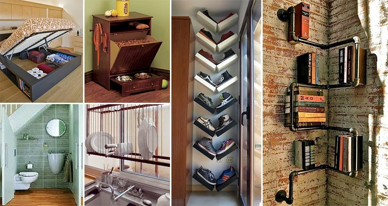 14 awesome space saving ideas for even the smallest of homes for Home space saving ideas