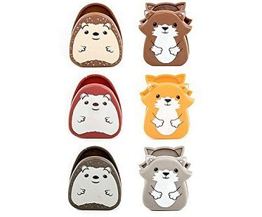 Woodland Animals Bag Clips chips
