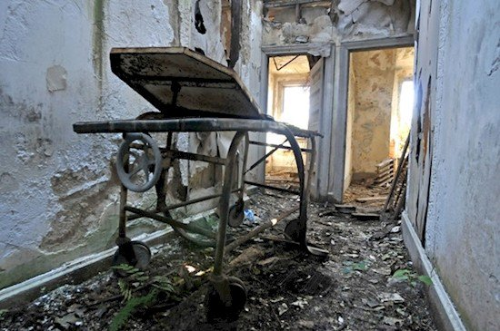 abandoned medical equipment