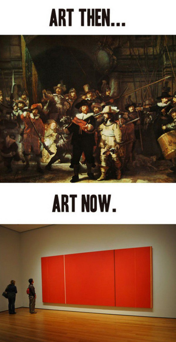 art then and now