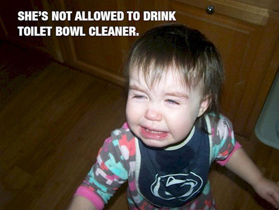 baby no toilet cleaner