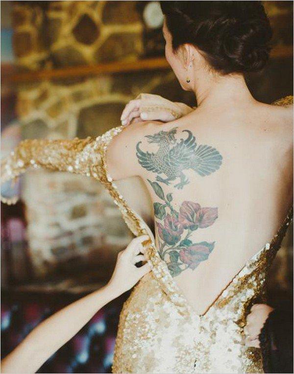 back tattoo dress