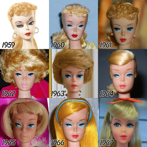 barbie-evolution-1959-1967