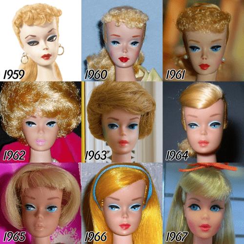 barbie-evolution-1959-1967