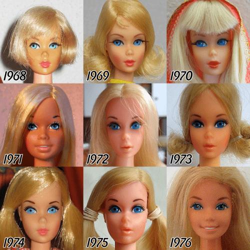 barbie-evolution-1968-1976