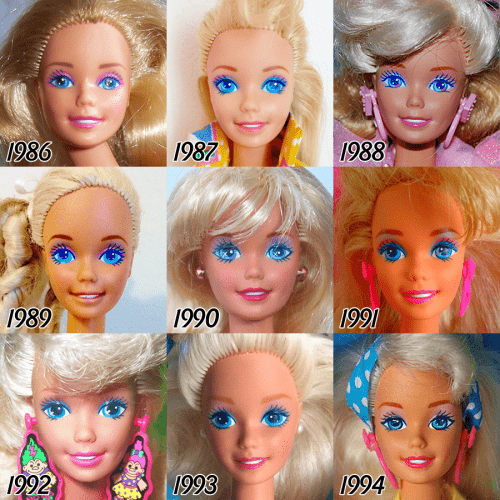 barbie-evolution-1986-1994
