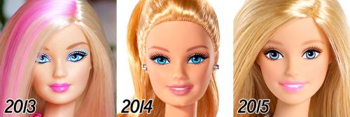 barbie-evolution-2013-2015