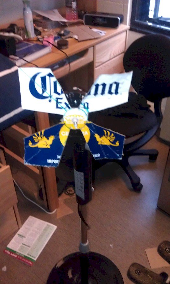beer box fan