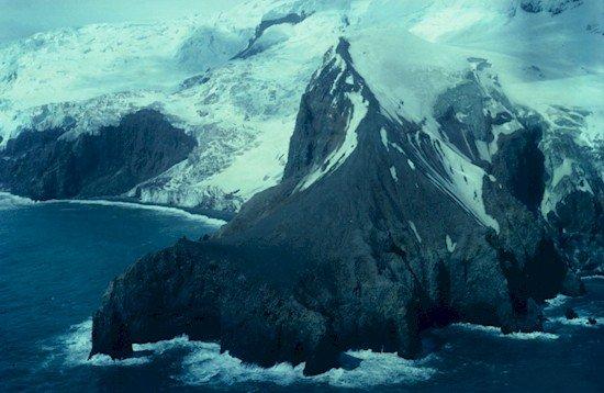 bouvet island rocks snow