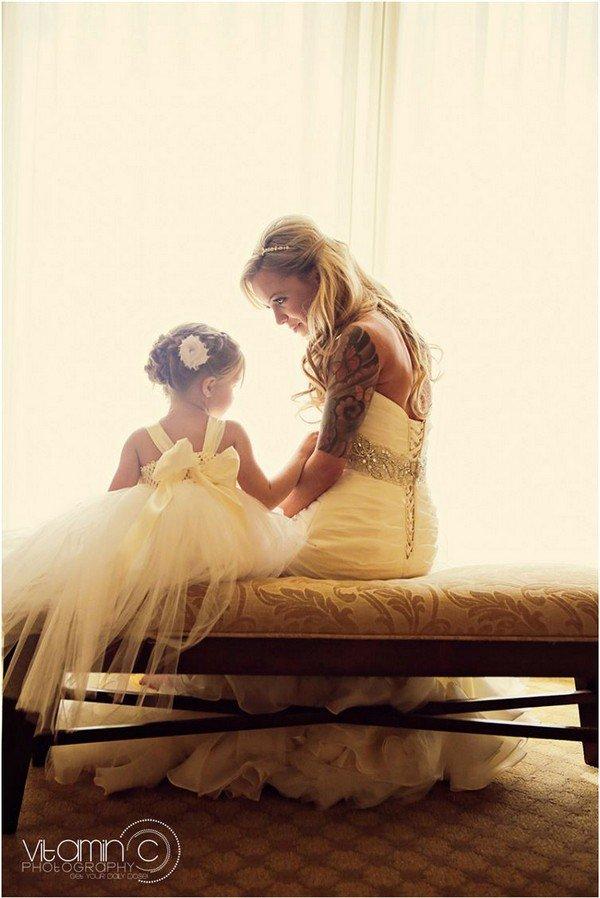 bride bridesmaid