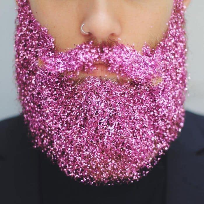 bright pink beard